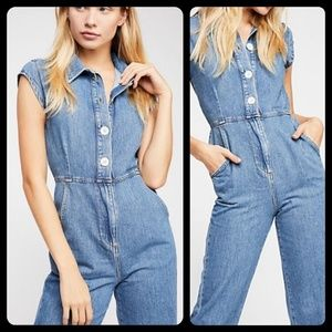 🆕️ Free People UNCHAINED MELODY denim Jumpsuit